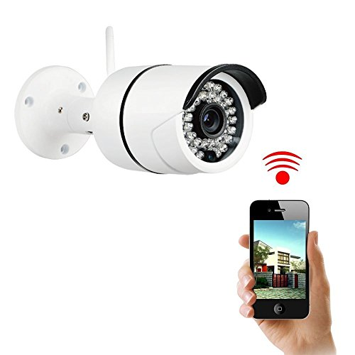 Security Camera, Sokos Bullet Camera, Megapixel Wireless Wifi HD Home Surveillance Indoor /Outdoor Cloud IP Camera , Mini Bullet IP66 Waterproof IR Night Vision Camera(720P)