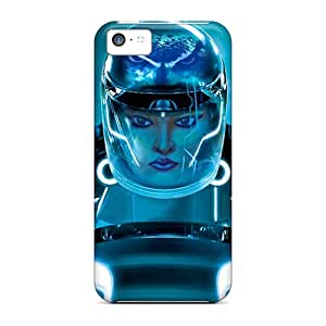 Malailne Snap On Hard Case Cover Lady Tron Protector For Iphone 5c