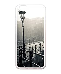 VUTTOO Iphone 6 Plus Case, Black And White City Street Light Case Cover for Apple Iphone 6 Plus 5.5 Inch TPU Transparent