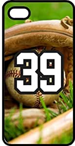 Baseball Sports Fan Player Number 39 Black Rubber Decorative iphone 6 plus Case