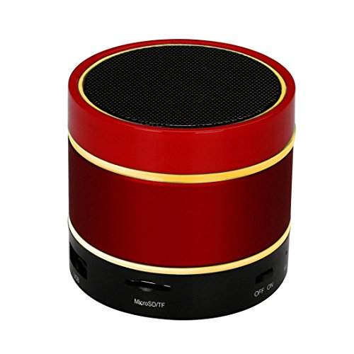 Price comparison product image Mchoice LED Bluetooth Wireless Speaker Portable and Rechargeable TF Card For iPhone (Red)