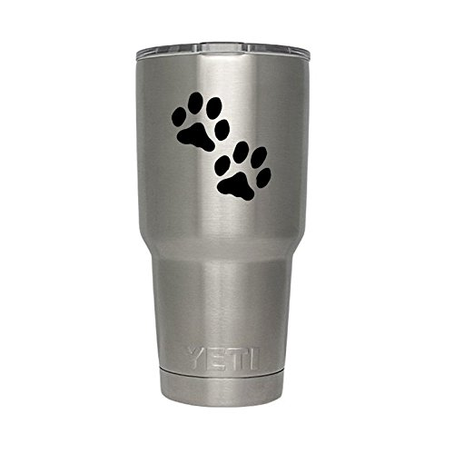 Dog Paws Silhouette Vinyl Sticker Decal for Yeti Mug Cup 30 oz RTIC Sic Cup Thermos - Dog Vinyl Sticker Decal
