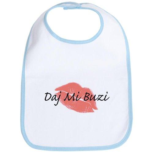 CafePress - Polish-Kiss Me/Give Me A Kiss Bib - Cute Cloth Baby Bib, Toddler - Bib Polish