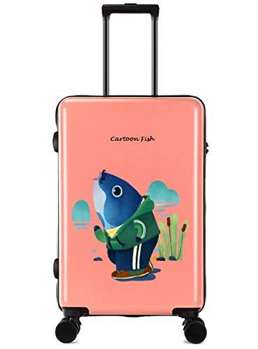 ユニバーサルホイールトロリーケースラゲッジスモールフレッシュ24インチスーツケース (Color : Orange)   B07MQQPT3B