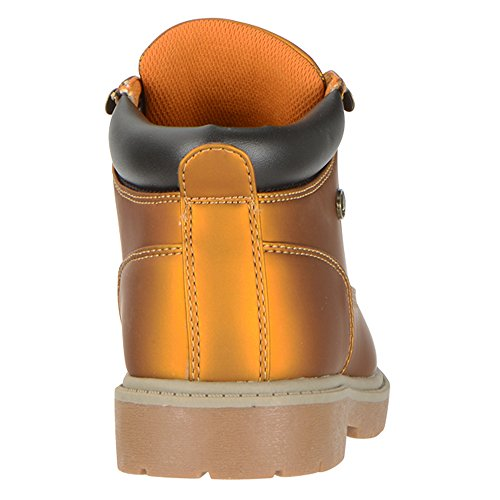 Lugz Womens Shifter MM Boot Golden Wheat/Bark Tan-Khaki/Gum Perma Hide 3LedCi