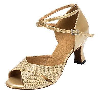 de Latina zapatos la de baile Salsa mujer purpurina amarillo personalizada tacones Misteriosa sandalias de brillante directa WRq4fqXC