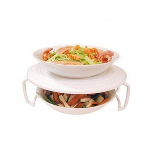 Rejilla de Plástico para Microondas para Poder Calentar o Cocinar Dos Platos