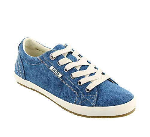 Turquoise Canvas Footwear - Taos Footwear Women's Star Turquoise Wash Canvas Sneaker 8 B (M) US