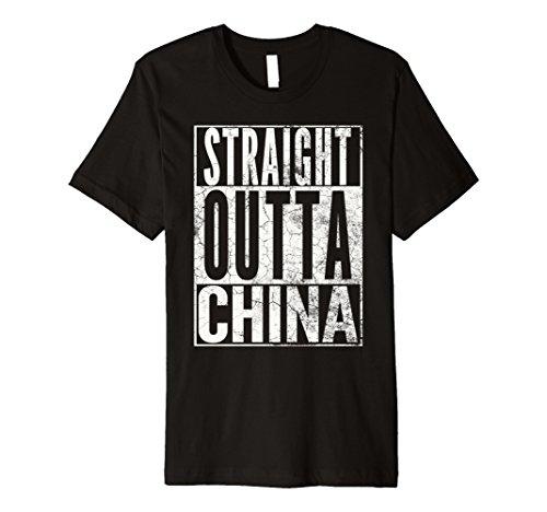 STRAIGHT OUTTA CHINA FUNNY T-SHIRT NOVELTY JOKE - Shoppes Chino