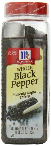 McCormick Black Whole Pepper, 19.5-Ounce