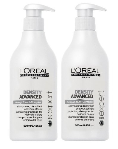 Loreal Density Advanced Champú + Bomba 2 x 500 ml serie Expert Omega de 6 NUTRI