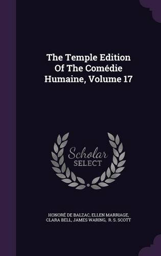 Download The Temple Edition Of The Comédie Humaine, Volume 17 pdf epub