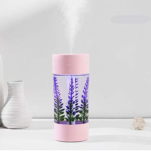 Nebelbefeuchter, Mini-USB-3-In-1-Luftaromatherapiegerät Lavendelbefeuchter Für Das Home Car Office, Wasserlose Automatische Absperrbefeuchter,Rosa