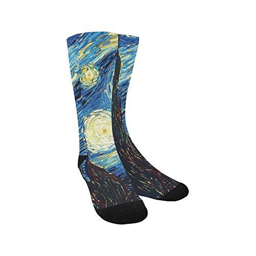 Artsadd Unique Debora Custom Hosiery Knee-High Socks Leg Warmers for Unisex with The Starry Night from Artsadd