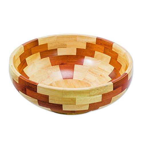 NOVICA Brown Decorative Wood Bowls, Pyramidal ()