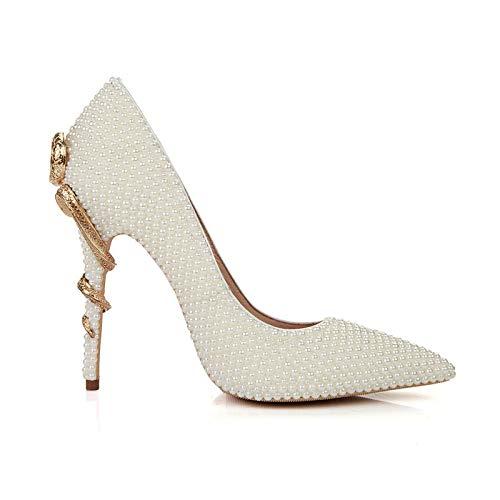 Pointus à White à Bouts Talons Femmes Pointus pour Chaussures WqRnBxPpp