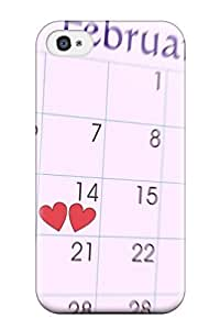 2764135K12264377 Top Quality Case Cover For Iphone 4/4s Case With Nice February Special Day 14th Appearance