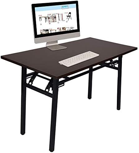 Folding Computer Desk,Lotus.Flower Modern Sturdy Desk Writing Computer Office Desk PC Laptop Table Workstation