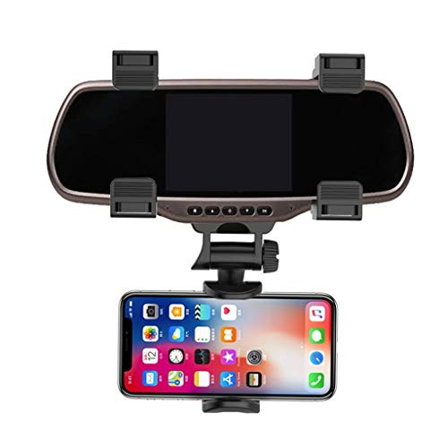HighlifeS_Car Cup Holder for Cell Phone GPS Universal Auto Car Rearview Mirror Mount Stand Holder Cradle (Black)
