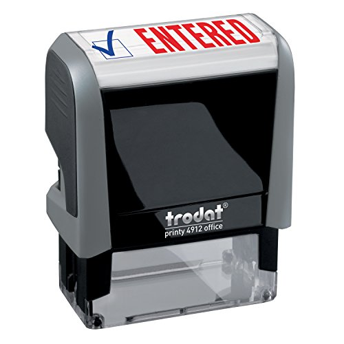- Entered Trodat Printy 4912 Self-Inking Two Color Stock Message Stamp