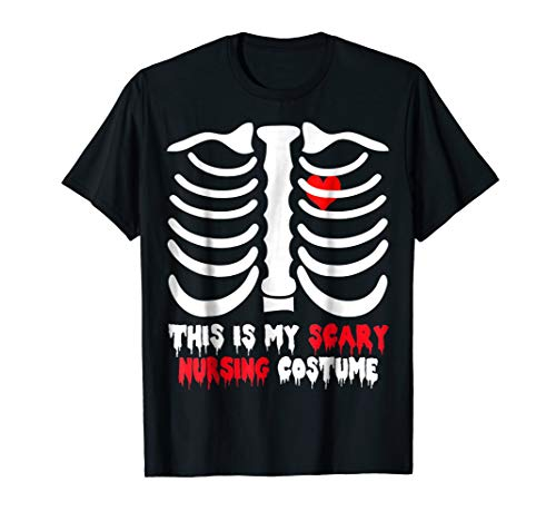 Skeleton Rib T-Shirt For Nursing Halloween Costume -