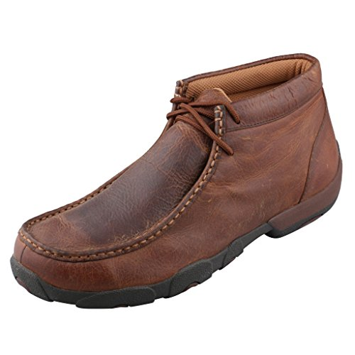 er Leather Lace Up Driving Moccasins - Copper - 8.5 D(M) US ()