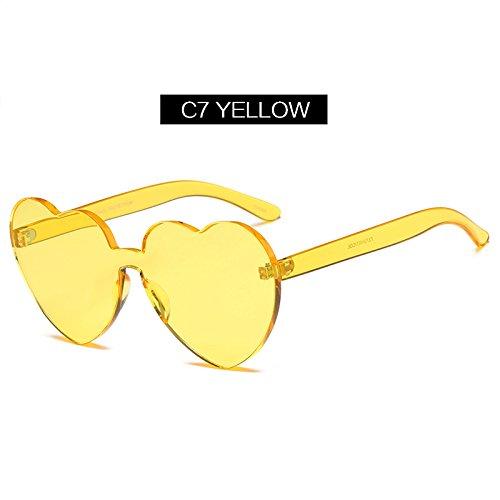 d555b78a01 Mejor TIANLIANG04 Gafas de sol en forma de corazón la mujer estilo Ojo de  Gato forma ...