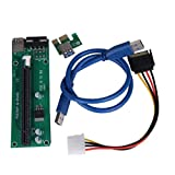Aobiny 2x PCI-E Express Powered Riser Card W/ USB 3.0 extender Cable 1x to 16x Monero