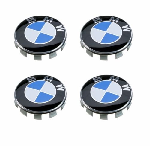 SET OF 4 BMW GENUINE for BMW blue Wheel Center Cap Hub Cap 36136783536