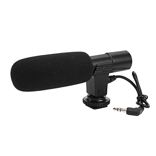 Acouto 3.5mm Microphone Jack 1/4'' Screw Hole Condenser Microphone with Windshied for Varius Cameras/Camcorders/Audio recorders by Acouto