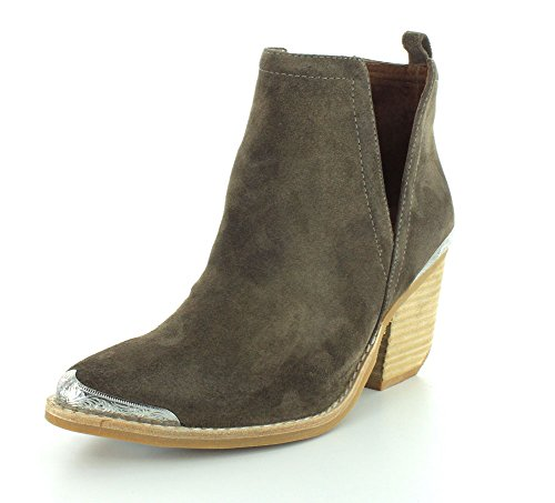 Jeffrey Campbell Women's Cromwell Suede Booties, Taupe, Tan, 8 M US