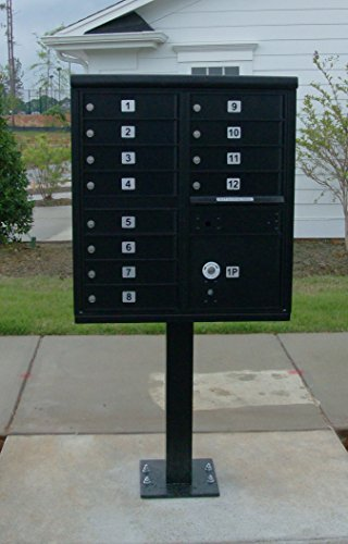 Security Box High Cluster - Vital Cluster Box Unit, 12 Mailboxes, 1 Parcel Locker, Sandstone
