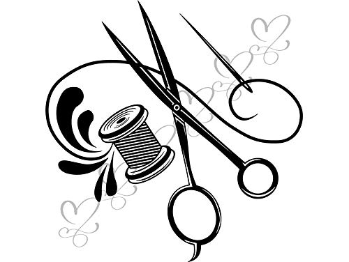 (Mildred Rob Sewing Fashion Textile Textile Industry Factory Tailor Garment Seam Vinyl Sticker VectorSpace Clipart DigitalDownload Circuit Cut Cutting)