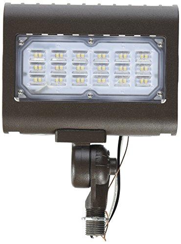 Morris 71554 30W 5000K LED Flat Panel Flood Light with 1/2″ Adjustable Knuckle Mount, 2995 lm, 120-277V, Bronze For Sale