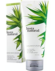 Acne Moisturizer for Face - Clearing & Moisturizing Cream for Oily & Acne Prone Skin - Made With Salicylic Acid - Reduces Breakouts, Pimples & Blemishes - InstaNatural - 3.4 oz