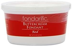 Fondarific Buttercream Fondant, Red, 8 Ounce