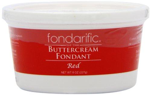 Fondarific Buttercream Fondant, Red, 8 Ounce -