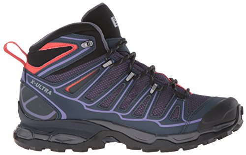 Nightshade Blue Mid Grey Women's Hiking Grey Ultra Salomon Boots W X Pun Low Pun Grey 8 Deep Coral 2 Deep Black Rise Blue Nightshade GTX Coral tqRtO