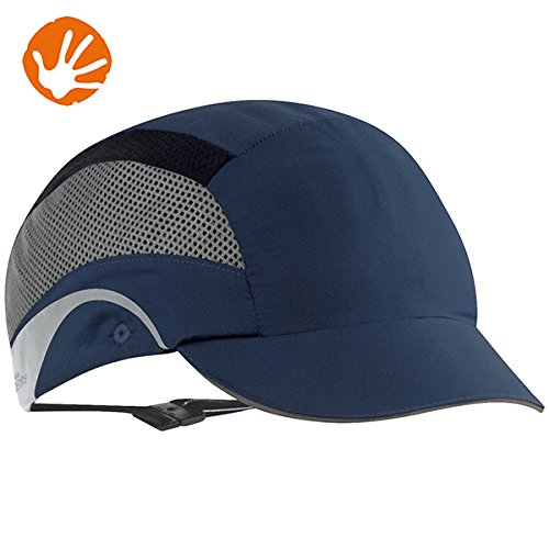 JSP aaf000 –  002 –  100 –  HARDCAP Aerolite Short Peak Bump Cap, 5 cm, color azul marino 5cm JSP Limited AAF000-002-100