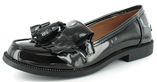 SHUMAD - Mocasines de Material Sintético para mujer Negro - negro (black patent)