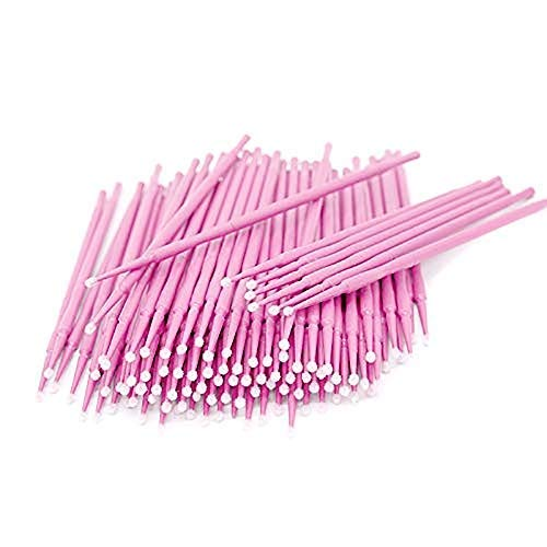 500PCS Disposable Micro Applicators Brush for Makeup and Personal Care (Head Diameter: 2.0mm)- 5 X 100 PCS