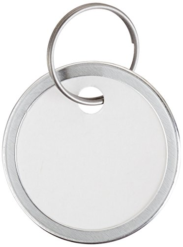 Avery Key Tags, Split Ring, White, 1.25 Inch Diameter, Pack of 25 (11027) (Metal Rim Tag)