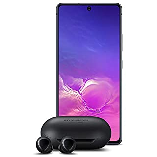 Samsung Galaxy S10 Lite with Samsung Galaxy Buds, Bluetooth True Wireless Earbuds (Wireless Charging Case Included), Black - US Version with Warranty