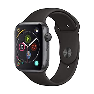 AppleWatch Series4 (GPS, 44mm) - Space Gray Aluminum Case with Black Sport Band