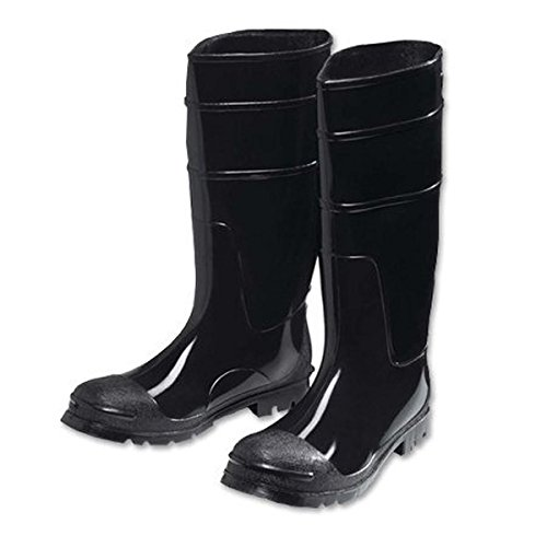 West Chester 8350 13 PVC Steel Toe Boot, Size 13, Black
