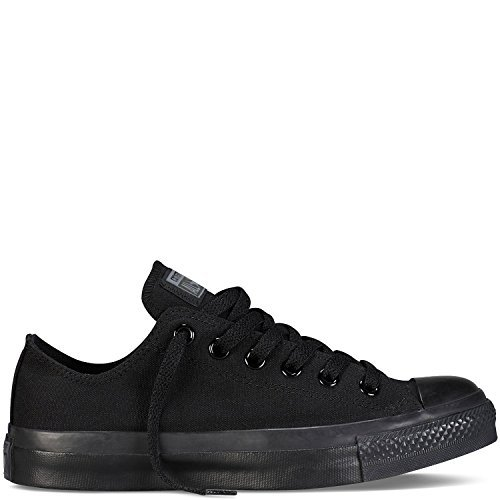 Converse Unisex Chuck Taylor All Star Low Top Black/Black Sneakers - 6.5 Men 8.5 Women