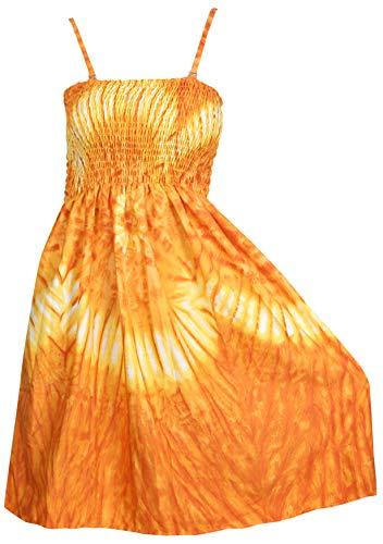 LA LEELA 3 en 1 Mujer de época Likre Suave Suaves, además de Playa Traje de baño Bikini Encubrir Las señoras del Ropa de Playa Maxi Falda sin Mangas de la Correa Loungewear Casual los Sundress Naranja_t914
