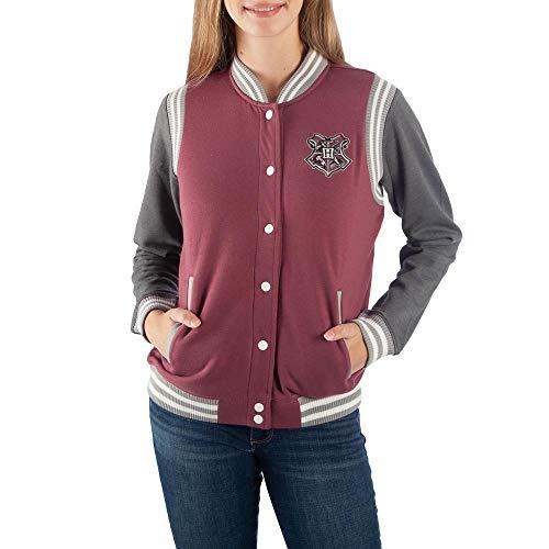 Bioworld Harry Potter Hogwarts Juniors Varsity Jacket-XX-Large Red -