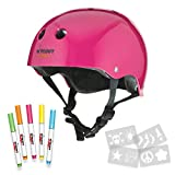 Wipeout Dry Erase Kids' Bike, Skate, and Scooter Helmet, Neon Pink, Ages 8+ For Sale