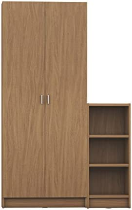 Manhattan Comfort Greenwich 2 Piece Trente 2.0 and Tall 1.0 Horizontal Bookcase Collection Modern Free Standing Bookcases